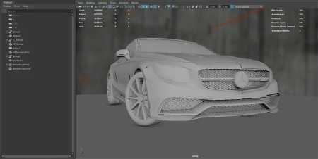 post 2019 Computer Graphics modello auto
