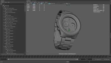 post 2019 Computer Graphics modello orologio