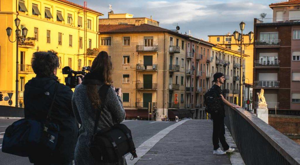 Digital Video sul Ponte Solferino a Pisa