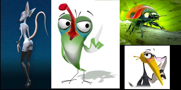 animazione - gruppo di personaggi