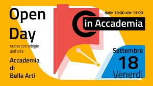 Open Day in Accademia - settembre 2020