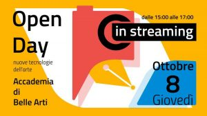 Open Day in Streaming - 8 ottobre 2020